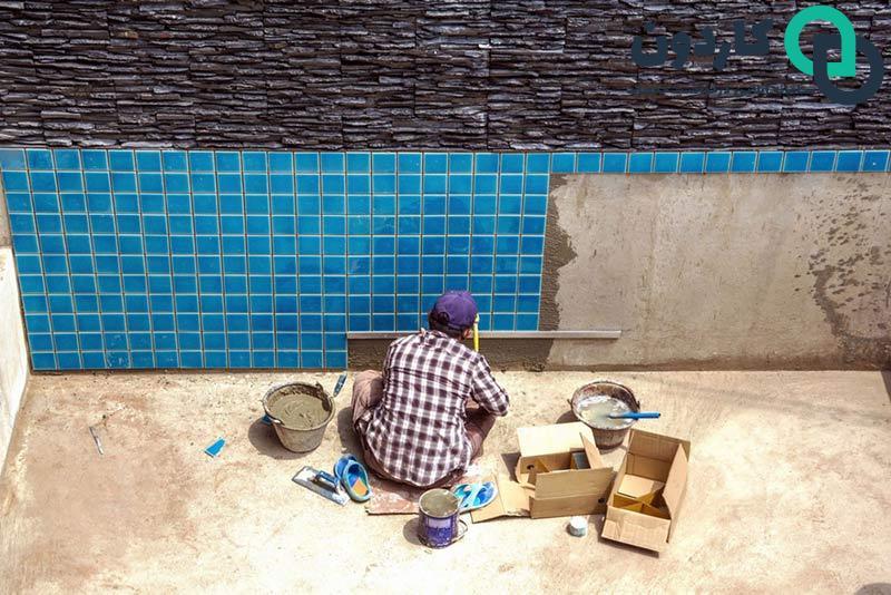 کاشی کاری ساختمان
